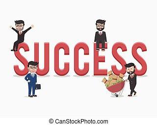 réussi, entrepreneurs, business