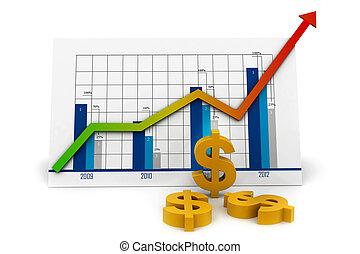 réussi, graphique, business