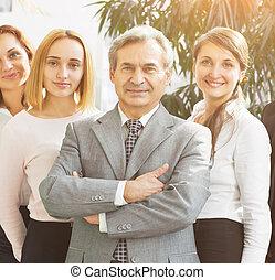 réussi, homme affaires,  Business, bureau, équipe