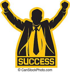 réussi, homme affaires