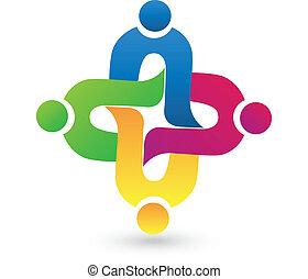 réussi, logo, monde médical, collaboration