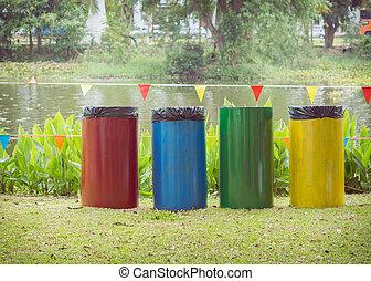 réutiliser casiers, jardin, coloré