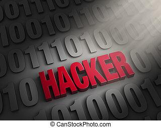 révéler, pirate informatique, code, informatique