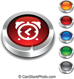 réveil, button., 3d