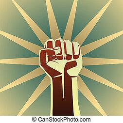 révolution, poing