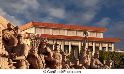 révolutionnaire, beijing, statues