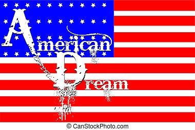 rêve, américain, concept