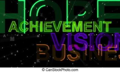 """rêve, concept, backdrop"""", """"success, mots, espoir"""