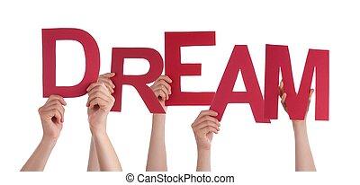 rêve, tenant mains