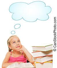 rêver, écolière, image