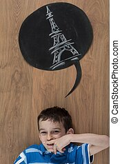 rêver, voyage, à, paris