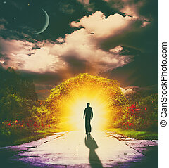 rêves, résumé, arrière-plans, conception, suivre, ton