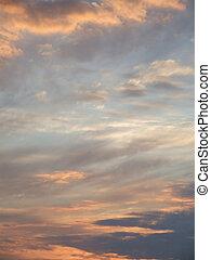rêveur, ciel coucher soleil