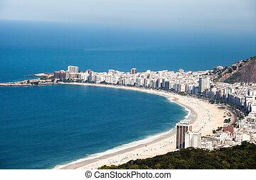 río, de, brasil, playa, copacabana, janeiro