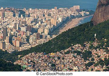 río, de, favela, rocinha, janeiro