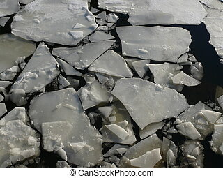 río de moscow, hielo, textura, grieta