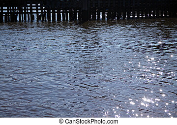 río, picado, agua, hudson, superficie