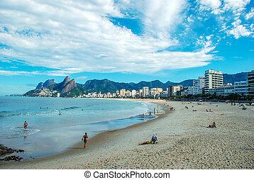 río, playa, de, ipanema, janeiro
