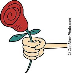róża, miłość, ładny