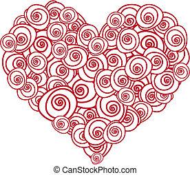 róża, serce