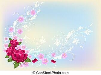 róże, kwiaty, ozdoba
