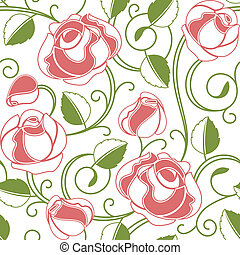 róże, seamless, próbka
