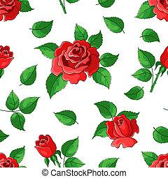 róże, tło, kwiat