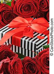 róże, ułożyć, czerwony, niniejszy, valentine