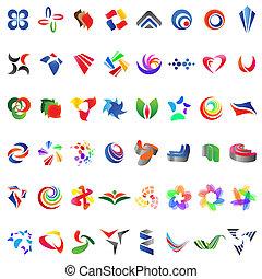 różny, 48, barwny, 6), wektor, icons:, (set
