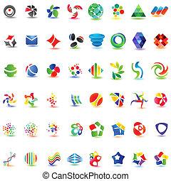 różny, 48, barwny, wektor, icons:, (set, 2)