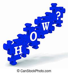 różny, drogi, zagadka, problemy, how?, rozwiązać, widać