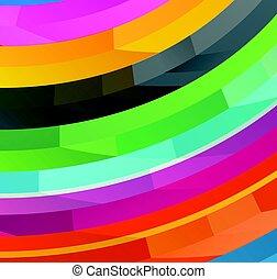różny, elementy, kolor, abstrakcyjny, wektor, tło