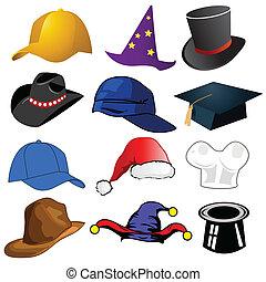 różny, kapelusze