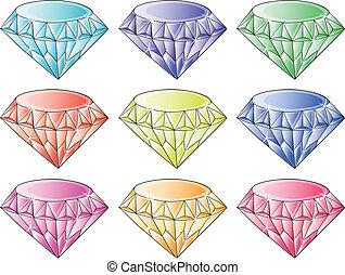 różny, kolor, dzwonek