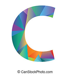 różny, kolor, litera