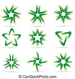 różny, komplet, #14., gwiazdy, ikony