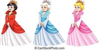 różny, kostiumy, królowe
