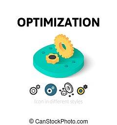 różny, optimization, styl, ikona