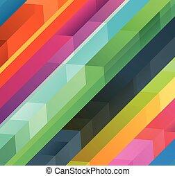 różny, pojęcie, kolor, abstrakcyjny, wektor, projektować, tło, arrows.