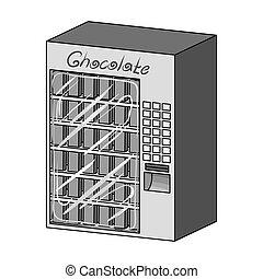 różny, rodzaje, symbol, web., isometric, ilustracja, terminal, jednorazowy, wektor, chocolate., terminals, monochromia, ikona, styl, pień