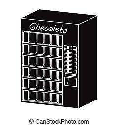 różny, rodzaje, symbol, web., isometric, ilustracja, terminal, jednorazowy, wektor, czarnoskóry, chocolate., terminals, ikona, styl, pień