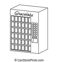 różny, rodzaje, szkic, symbol, web., isometric, ilustracja, terminal, jednorazowy, wektor, chocolate., terminals, ikona, styl, pień
