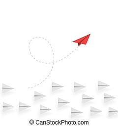 różny, success., handlowy, thinking., concept., przenosić,...