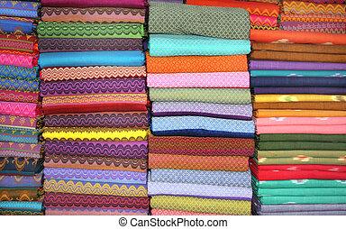 różny, tkaniny, handmade, kolor