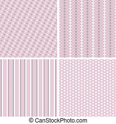 różny, wektor, seamless, patterns.