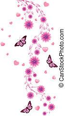 różowe kwiecie, ozdoba