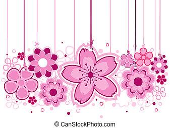 różowe kwiecie