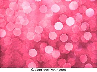 różowy, światła, defocused