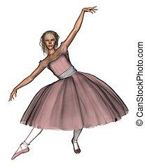 różowy, 1, balet, -