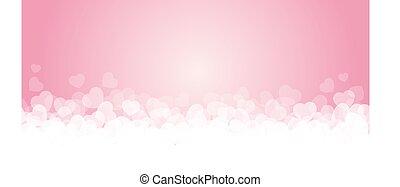 różowy, abstrakcyjny, kwiaty, tło